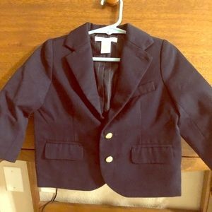 Navy Blue Blazer with Gold buttons 12-18mo